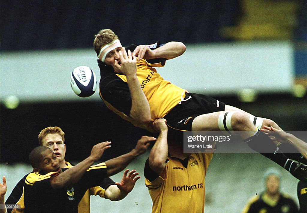 Doddie Weir of Newcastle is up ended in a line out during the Zurich Premiership match between London Wasps and Newcastle Falcons at Loftus Road, London. Mandatory Credit: Warren Little/ALLSPORT