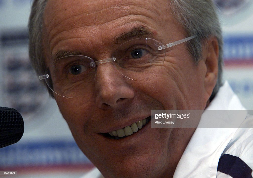 England Manager, Sven Goran Eriksson during today's England press conference at the Marriott Hotel in Worsley, Manchester. DIGITAL IMAGE. Mandatory Credit: Alex Livesey/ALLSPORT