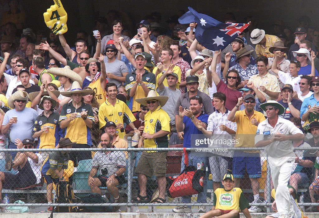 General view of fans during the first day of the first Test between Australia and New Zealand played at the Gabba, Brisbane, Australia. DIGITAL IMAGE. Mandatory Credit: Jonathan Wood/ALLSPORT
