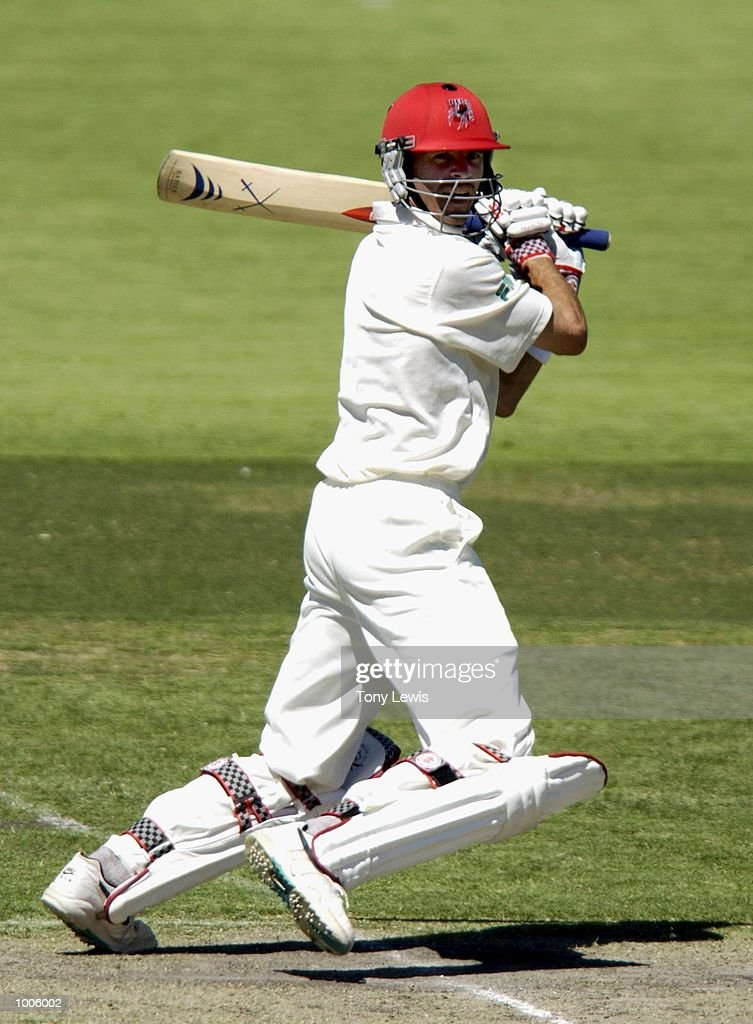 Greg Blewett of South Australia in action in the match between South Australia and New Zealand played at the Adelaide Oval in Adelaide, Australia. DIGITAL IMAGE Mandatory Credit: Tony Lewis/ALLSPORT