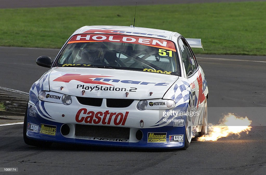 Greg Murphy #51 on his way to winning race 3 during round 12 of the Shell championship series at Pukekohe Park Raceway, south of Auckland, New Zealand. Murphy won all 3 races this weekend to be the outright round 12 winner. Mandatory Credit: Nigel Marple/ALLSPORT