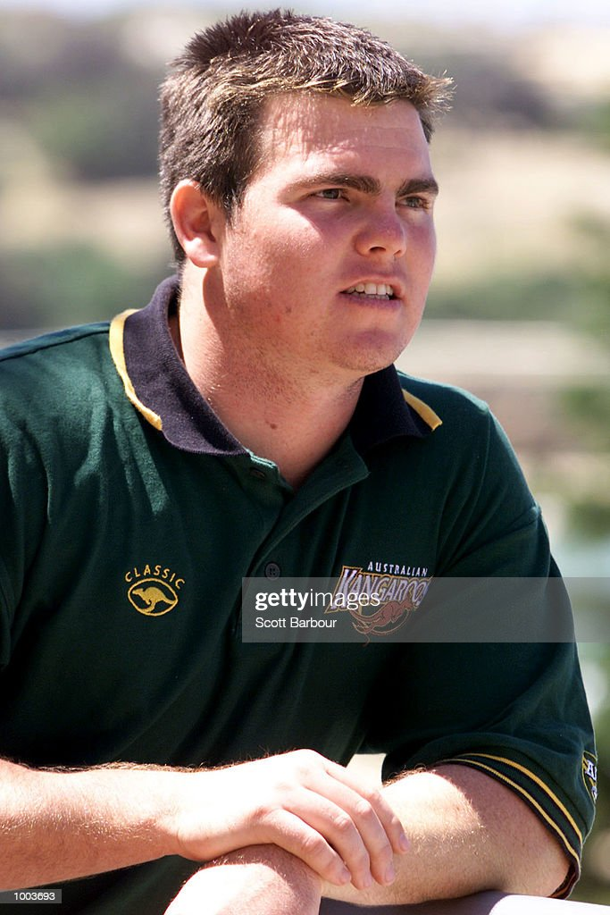 Jamie Lyon after being named in the Australian team to play Great Britain in the first test on the Kangaroo tour of England. The announcement was made at the Crowne Plaza at Coogee Beach in Sydney, Australia. DIGITAL IMAGE. Mandatory Credit: Scott Barbour/ALLSPORT