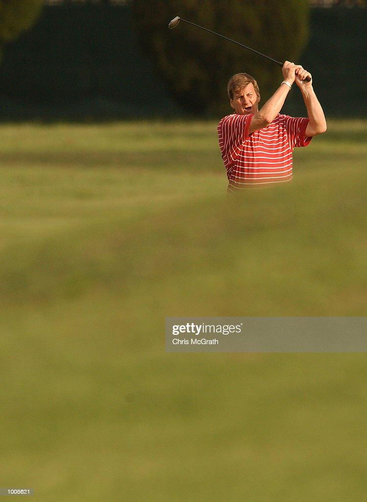 Jeff Kennett former Premier of Victoria in action on the 18th fairway during the Australian PGA Championship Pro AM held at Royal Queensland Golf Club, Brisbane, Australia. DIGITAL IMAGE Mandatory Credit: Chris McGrath/ALLSPORT