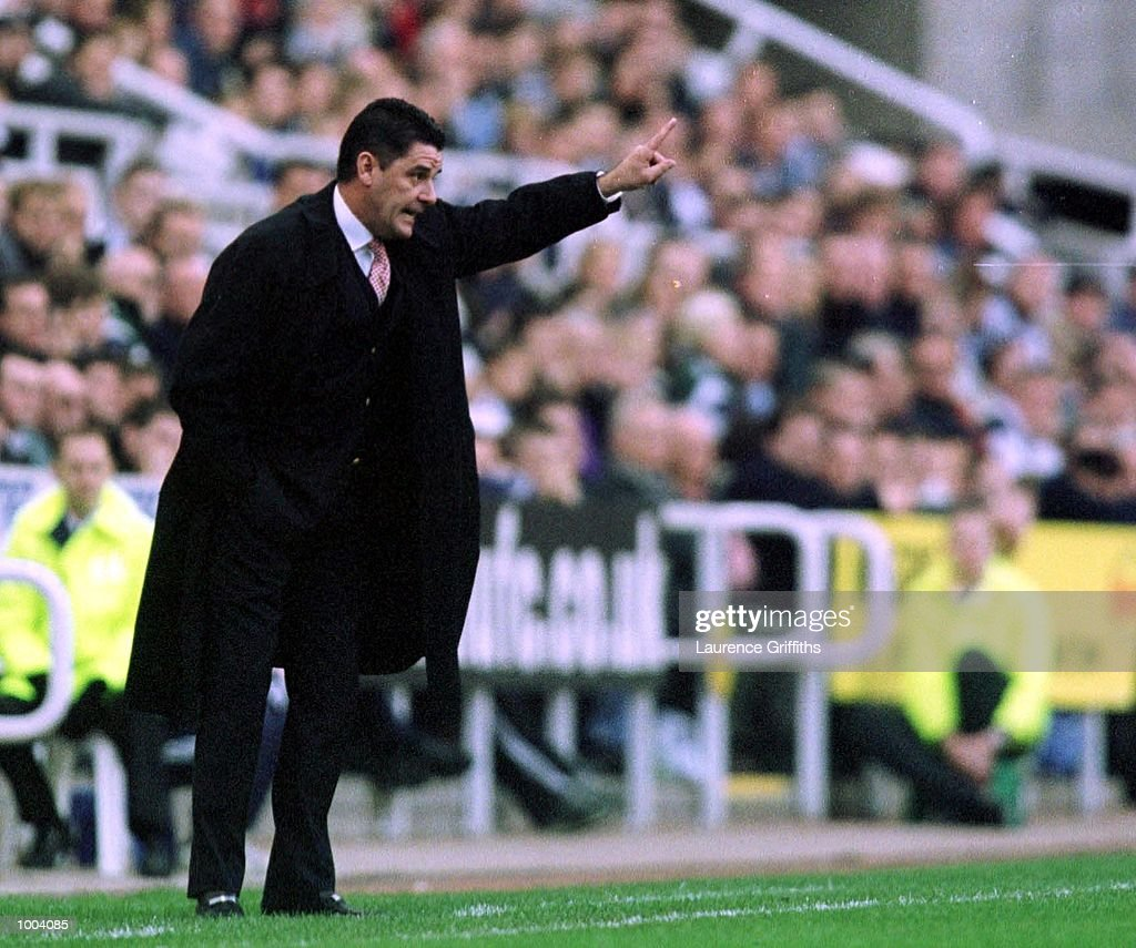 John Gregory, the Villa Manager calls to his team during the match between Newcastle United and Aston Villa in the FA Barclaycard Premiership at St James Park, Newcastle. Mandatory Credit: Laurence Griffiths/ALLSPORT