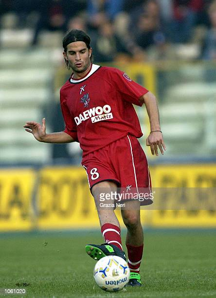 Manuele Blasi of Perugia in action during during the Serie A 10th Round League match between Parma and Perugia played at the Ennio Tardini Stadium in...
