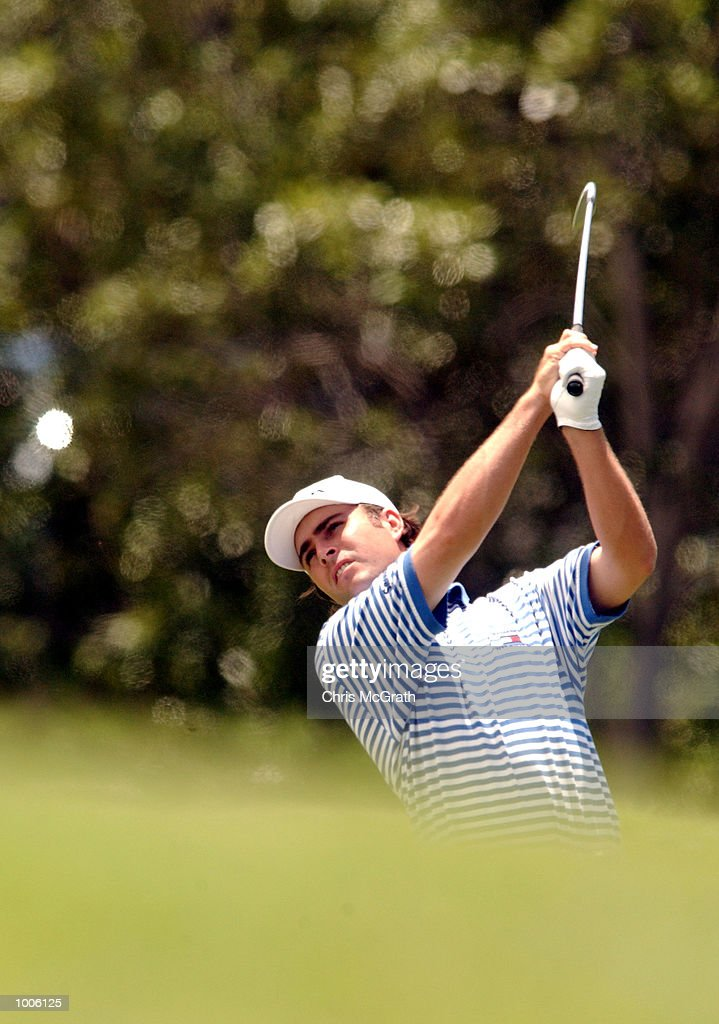 Mathew Goggin of Australia in action during the third round of the Australian PGA Championships being played at Royal Queensland Golf Club, Brisbane, Australia. DIGITAL IMAGE Mandatory Credit: Chris McGrath/ALLSPORT