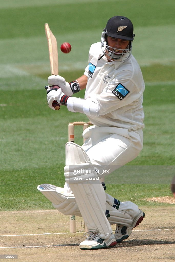 Mathew Sinclair of New Zealand in action against Australia during day four of the first Cricket test between Australia and New Zealand played at the Gabba in Brisbane, Australia. DIGITAL IMAGE. Mandatory Credit: Darren England/ALLSPORT