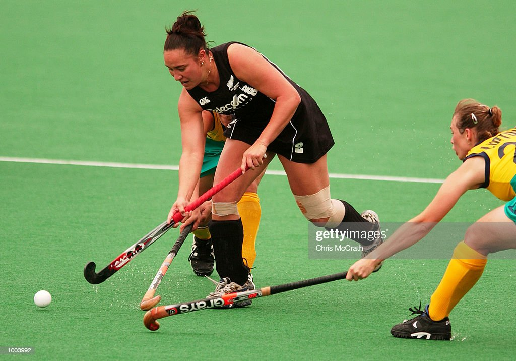 Moira Senior #2 of New Zealand in action during the third hockey test match between the Australian Hockeyroos and the New Zealand Black Sticks held at the Sydney Hockey Centre, Homebush Bay, Sydney, Australia. DIGITAL IMAGE Mandatory Credit: Chris McGrath/ALLSPORT