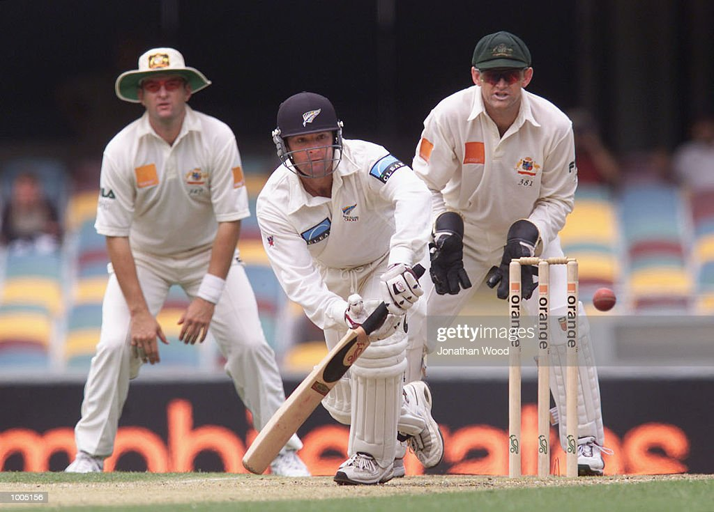 Nathan Astle of New Zealand in action during the fourth day of play in the first Test between Australia and New Zealand being played at the Gabba, Brisbane, Australia. DIGITAL IMAGE. Mandatory Credit: Jonathan Wood/ALLSPORT