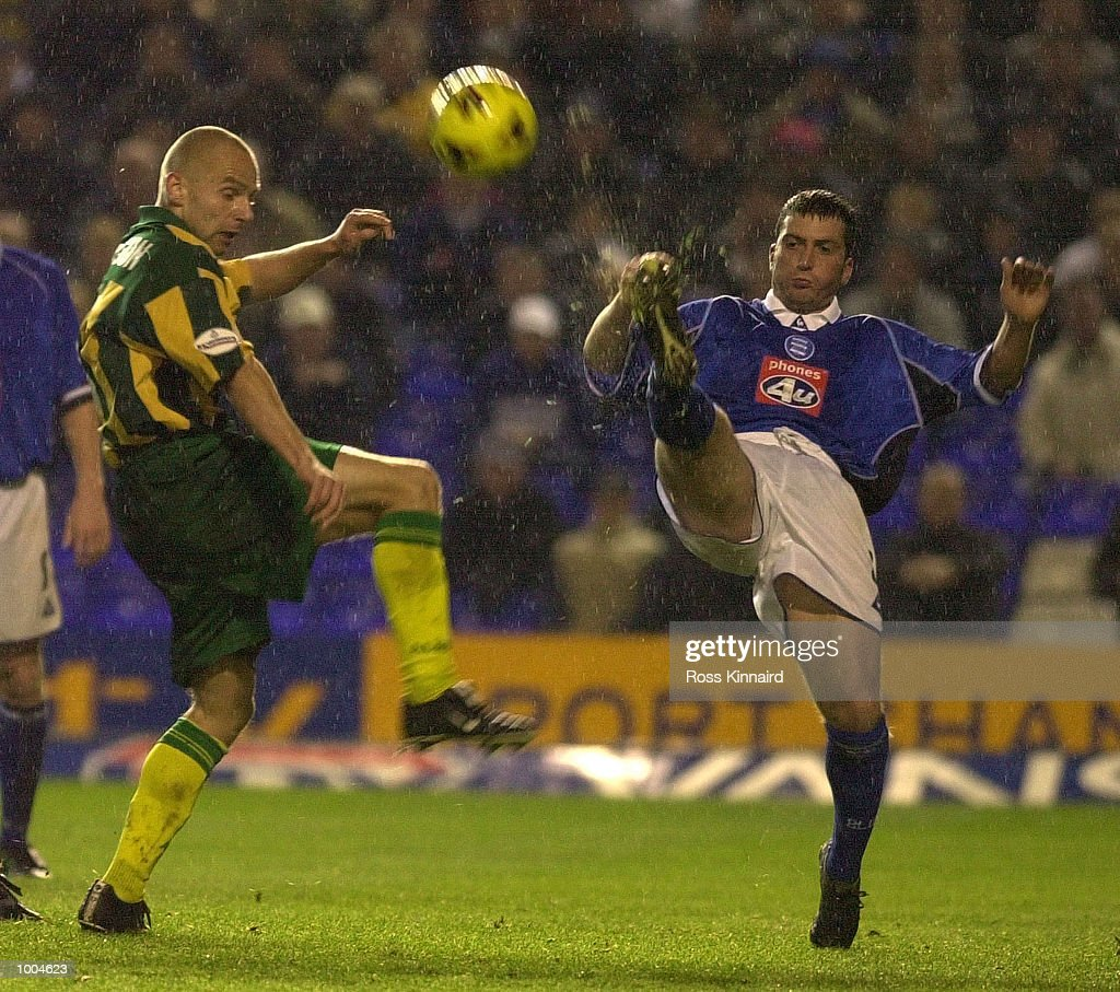 Nicky Eaden of Birmingham cleares from Mike Appleton of WBA during the Nationwide Division One match between Birmingham City v West Bromwich Albion at St Andrews, Birmingham. DIGITAL IMAGE. Mandatory Credit: Ross Kinnaird/ALLSPORT