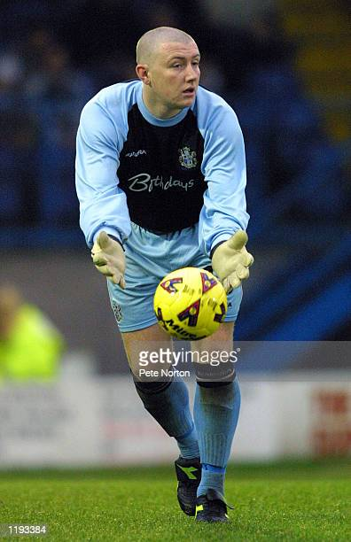 Paddy Kenny of Bury in action during the Nationwide League Division Two match played between Bury and Northampton Town at Gigg Lane in Bury England...