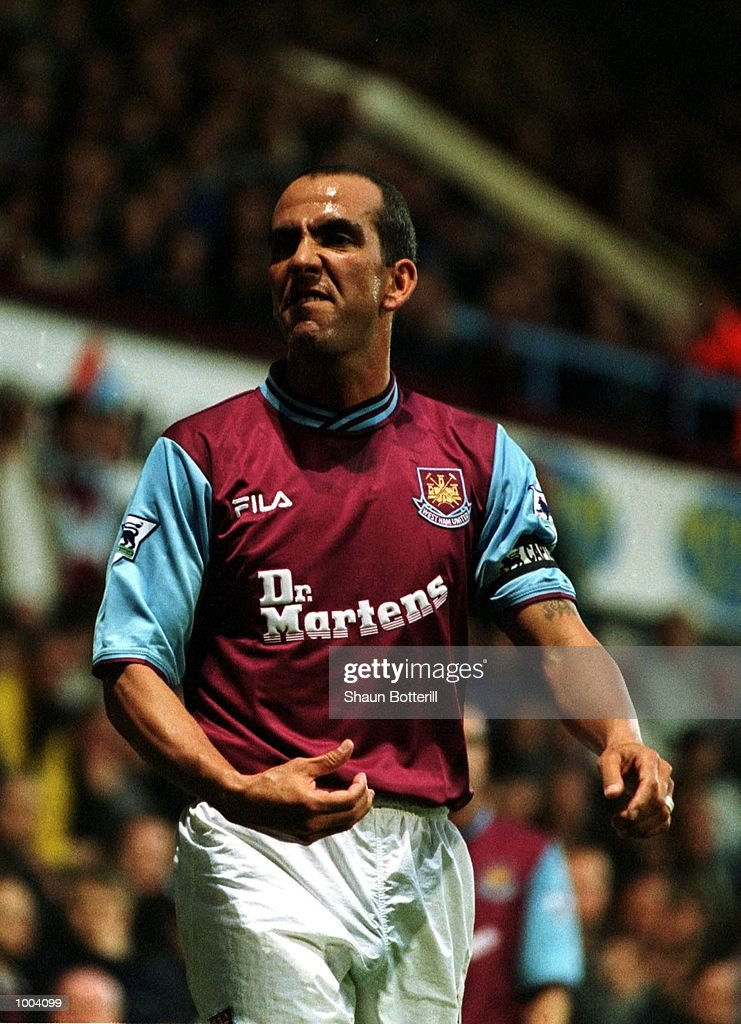 Paolo Di Canio of West Ham United during the FA Barclaycard Premiership match between West Ham United and Fulham at Upton Park, London. Mandatory Credit: Shaun Botterill/ALLSPORT