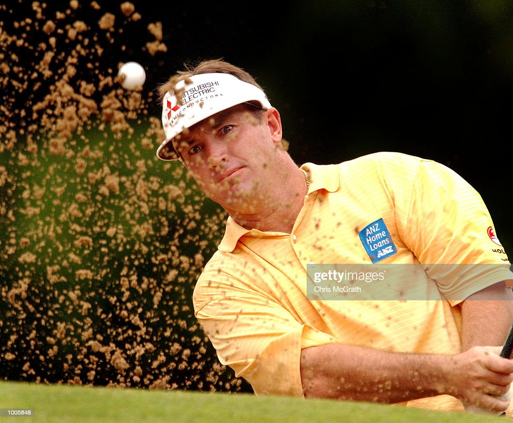 Peter Lonard of Australia in action during the first round of the Australian PGA Championships being played at Royal Queensland Golf Club, Brisbane, Australia. DIGITAL IMAGE Mandatory Credit: Chris McGrath/ALLSPORT