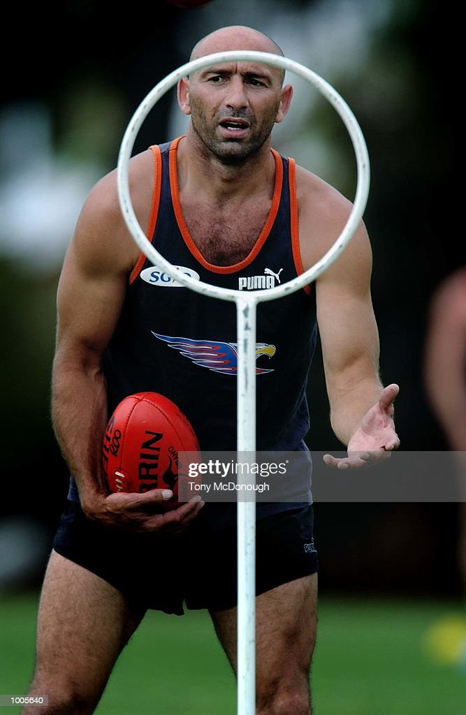 Peter Matera, West Coast Eagles star during the first training session in preparation for next years fixtures under new coach, John Worsfold (not pictured) in Perth, Australia. DIGITAL IMAGE Mandatory Credit: Tony McDonough/ALLSPORT Mandatory Credit: Tony McDonough/ALLSPORT