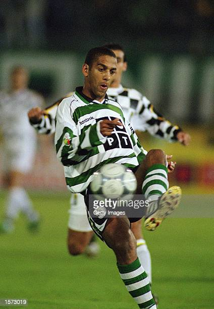 Phil Babb of Sporting Lisbon clears the ball during the Portuguese League match against Boavista played at the Jose Alvalade Stadium in Lisbon...