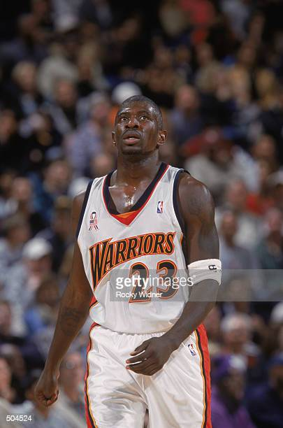 Portrait of guard Jason Richardson of the Golden State Warriors during the NBA game against the New Jersey Nets at the Arena in Oakland in Oakland...