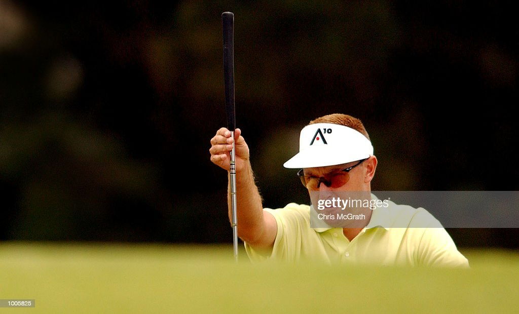 Robert Allenby of Australia in action on the 7th green during the first round of the Australian PGA Championships being played at Royal Queensland Golf Club, Brisbane, Australia. DIGITAL IMAGE Mandatory Credit: Chris McGrath/ALLSPORT
