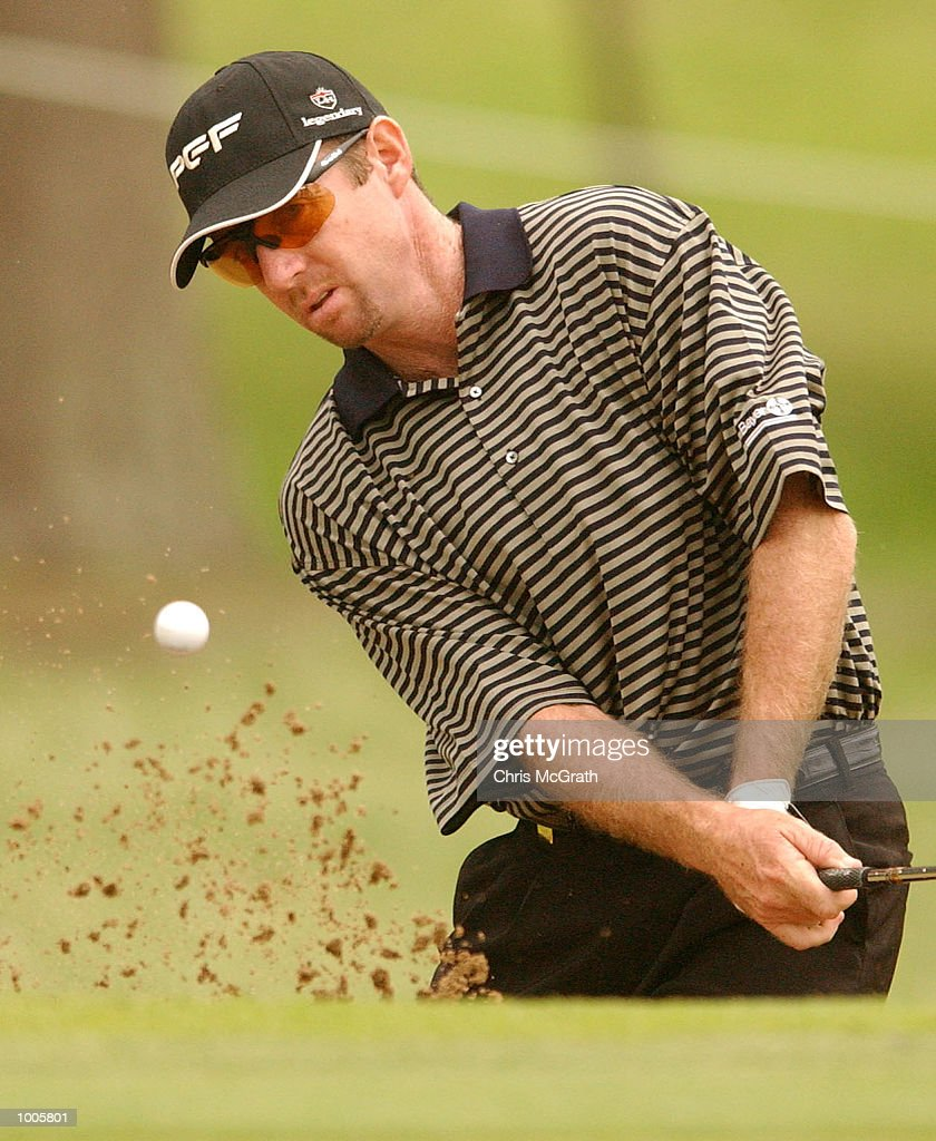 Rod Pampling of Australia chips on to the 14th green during the first round of the Australian PGA Championships being played at Royal Queensland Golf Club, Brisbane, Australia. DIGITAL IMAGE Mandatory Credit: Chris McGrath/ALLSPORT