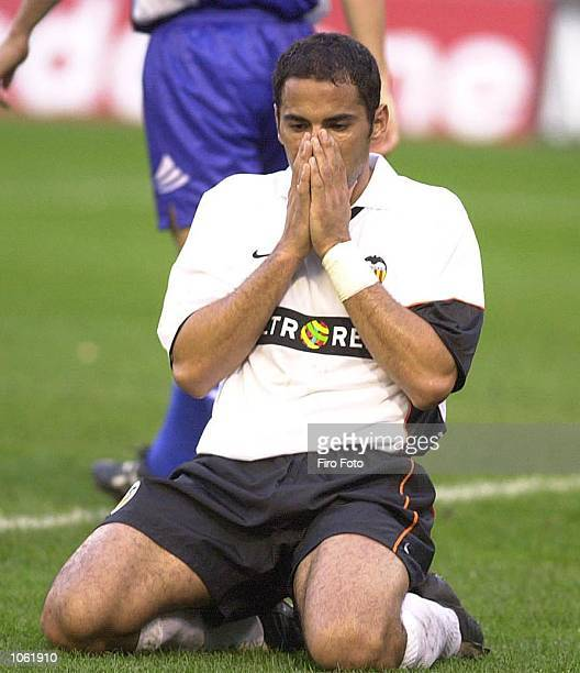 Salva of Valencia in despair during the Primera Liga game between Valencia and Tenerife played at the Mestalla Stadium Valencia DIGITAL IMAGE...