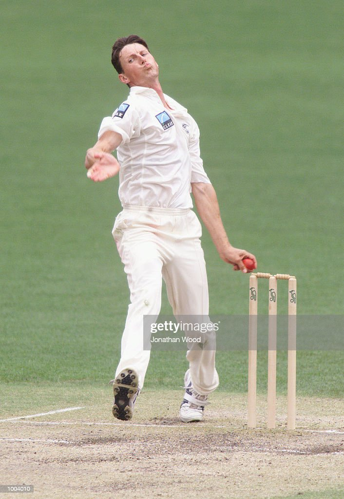 Shayne O''Connor of New Zealand in action during the third day of play between New Zealand and the Queensland Bulls at the Gabba, Brisbane, Australia. DIGITAL IMAGE. Mandatory Credit: Jonathan Wood/ALLSPORT