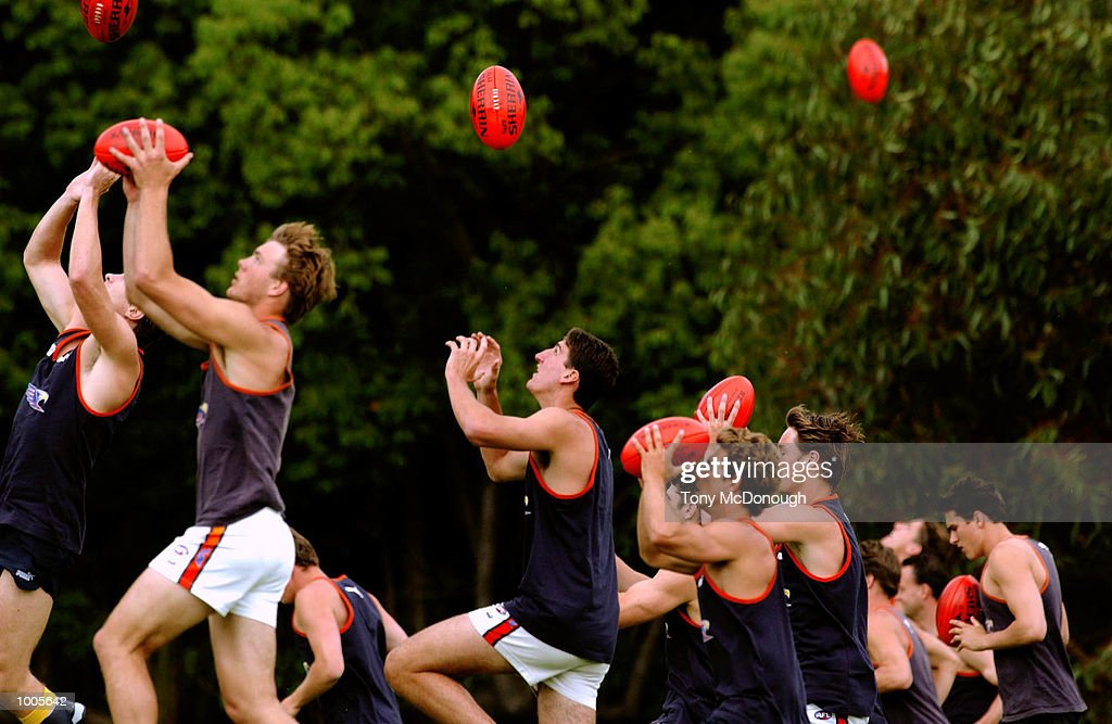 The West Coast Eagles during the first training session in preparation for next years fixtures under new coach, John Worsfold (not pictured) in Perth, Australia. DIGITAL IMAGE Mandatory Credit: Tony McDonough/ALLSPORT Mandatory Credit: Tony McDonough/ALLSPORT
