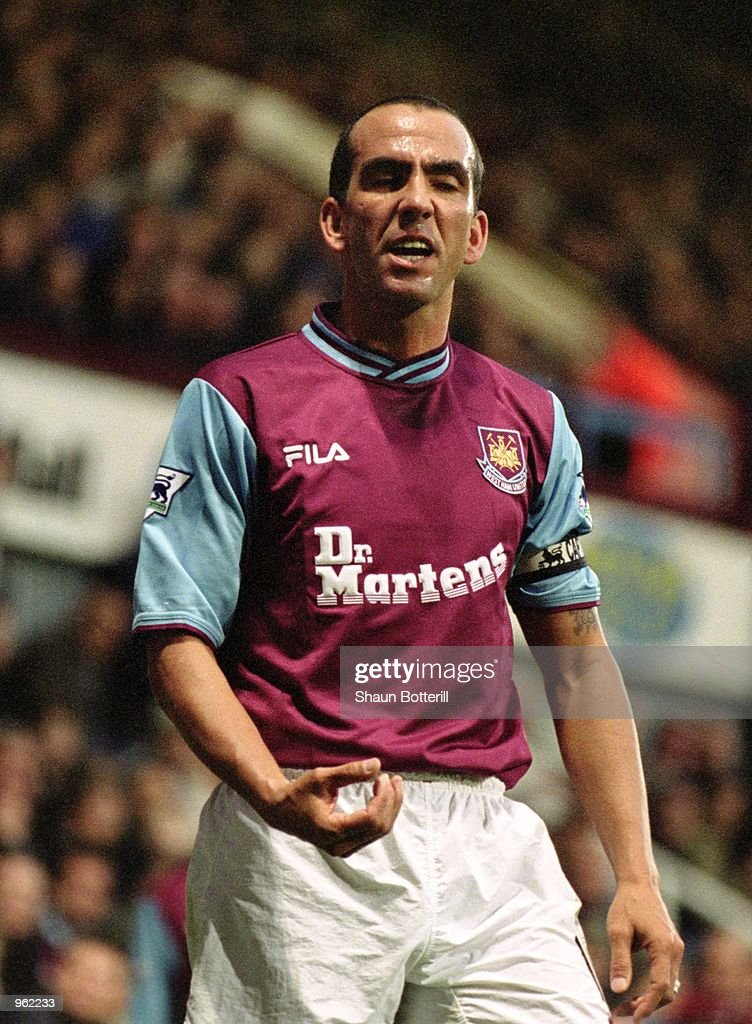 West Ham Captain Paolo Di Canio in action during the FA Barclaycard Premiership match between West Ham United and Fulham played at Upton Park in...