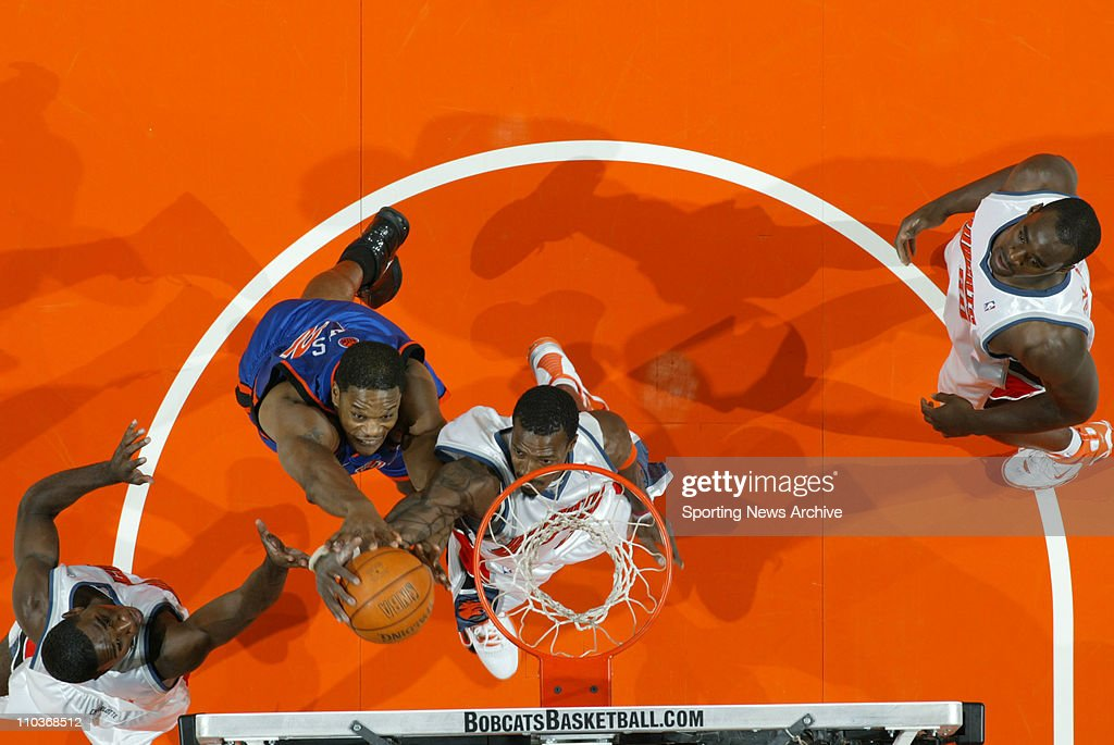 Nov 23, 2005; Charlotte, NC, USA; The New York Knicks ANTONIO DAVIS against the Charlotte Bobcats GERALD WALLACE on Nov. 23, 2005 at the Charlotte Bobcats Arena in Charlotte, NC. The Bobcats won 108-95.