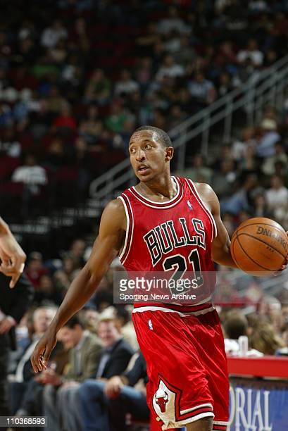 Nov 26 2005 Houston Texas USA Chris Duhon Chicago Bulls against the Houston Rockets on Saturday Nov 26 2005 at Toyota Center in Houston Texas The...