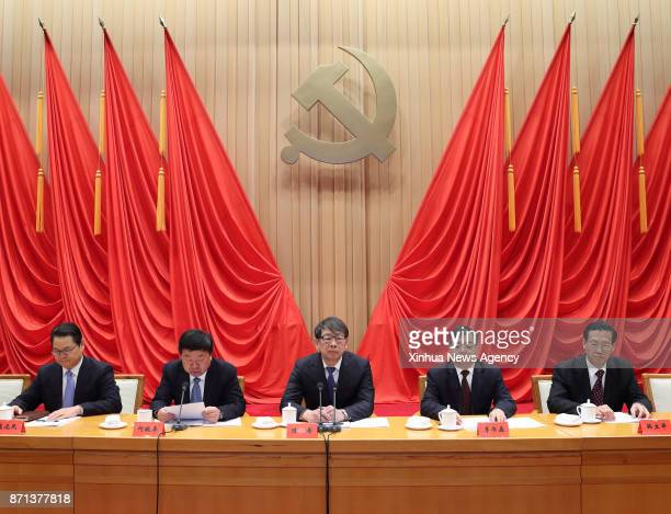 BEIJING Nov 3 2017 Chen Xi president of the Party School of the Communist Party of China Central Committee and a member of the Political Bureau of...