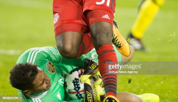 TORONTO Nov 30 2017 Goalkeeper Zack Steffen of Columbus Crew SC makes a save during the Eastern Conference final second leg match of the 2017 Major...