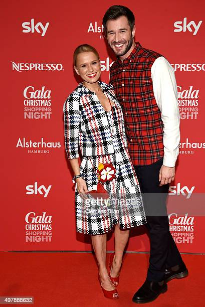 Nova Meierhenrich and Jochen Schropp attend GALA Christmas Shopping Night 2015 at Alsterhaus on November 19 2015 in Hamburg Germany