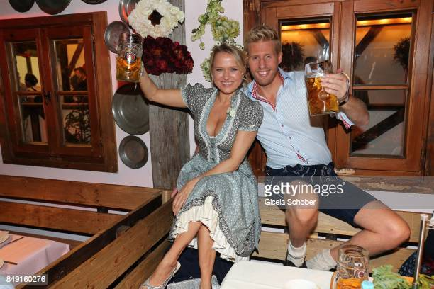 Nova Meierhenrich and Maxi Arland during the Oktoberfest at Theresienwiese on September 18 2017 in Munich Germany