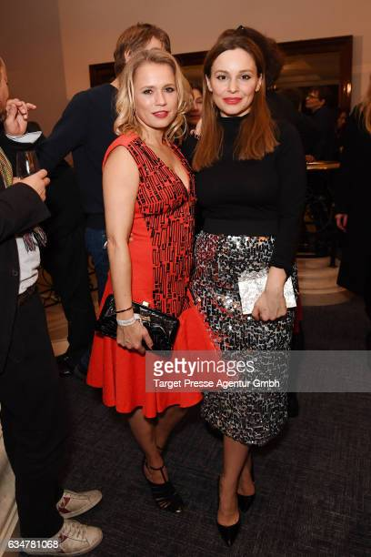 Nova Meierhenrich and Mina Tander attend the Medienboard BerlinBrandenburg Reception during the 67th Berlinale International Film Festival Berlin at...