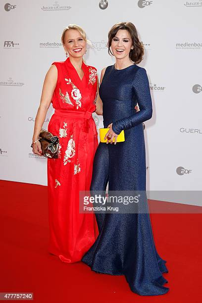 Nova Meierhenrich and Natalia Avelon attend the German Film Award 2015 Lola at Messe Berlin on June 19 2015 in Berlin Germany