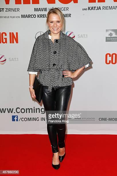 Nova Meierhenrich attends the 'Coming In' Premiere in Berlin on October 22 2014 in Berlin Germany