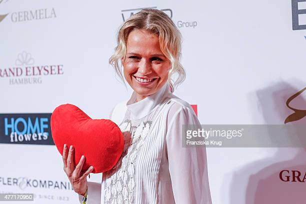 Nova Meierhenrich attends the 'Das Herz im Zentrum' Charity Gala on June 14 2015 in Hamburg Germany