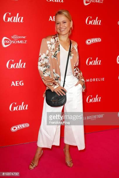 Nova Meierhenrich attends the Gala Fashion Brunch during the MercedesBenz Fashion Week Berlin Spring/Summer 2018 at Ellington Hotel on July 7 2017 in...