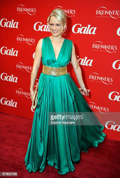 Nova Meierhenrich attends the Gala Spa Awards at Brenner's Park Hotel on March 20 2010 in Baden Baden Germany