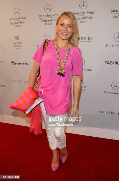 Nova Meierhenrich attends the Laurel show during the MercedesBenz Fashion Week Spring/Summer 2015 at Erika Hess Eisstadion on July 10 2014 in Berlin...