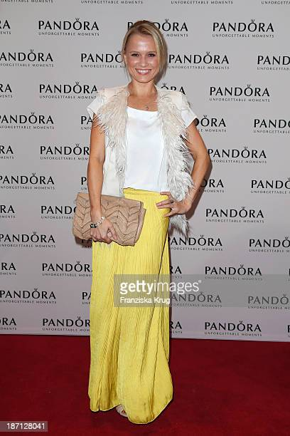 Nova Meierhenrich attends the Pandora Essence Collection Launch at Europa Passage on November 06 2013 in Hamburg Germany