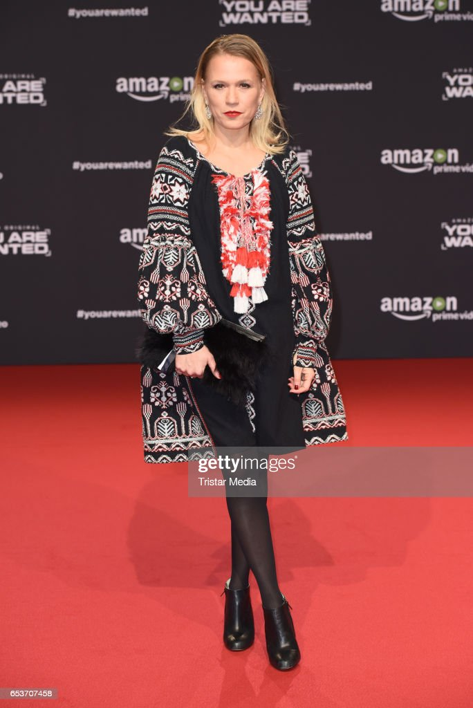 Nova Meierhenrich attends the premiere of the Amazon series 'You are wanted' at CineStar on March 15, 2017 in Berlin, Germany.