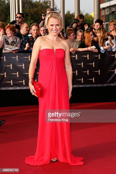 Nova Meierhenrich attends the red carpet of the Deutscher Fernsehpreis 2014 on October 02 2014 in Cologne Germany