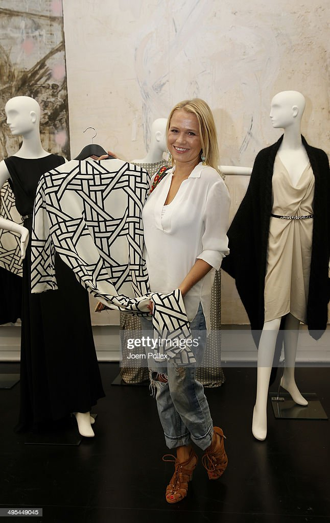 Nova Meierhenrich is pictured during the 'Dawid Tomaszewki Pop-Up Store Opening' on June 3, 2014 in Hamburg, Germany.
