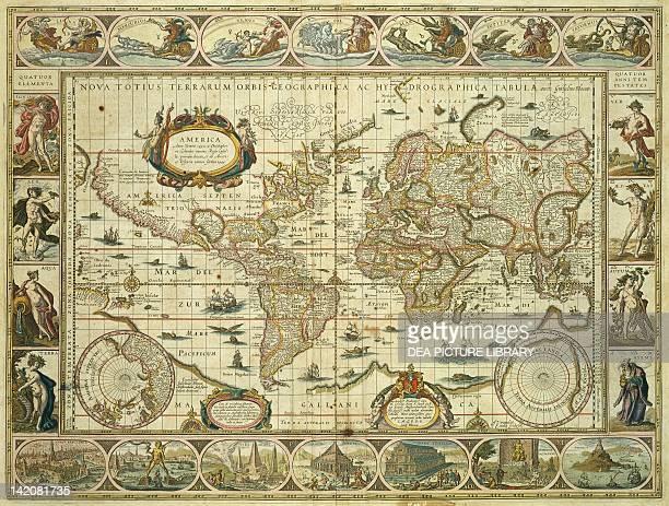 Nova Orbis Geographica ac Totius Terrarum Hydrographica Willem Janszoon Blaeu Amsterdam