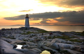 Nova Scotia According to legend Peggys' Cove was named after the only survivor of a schooner that ran aground and sank in 1800a woman named Margret...