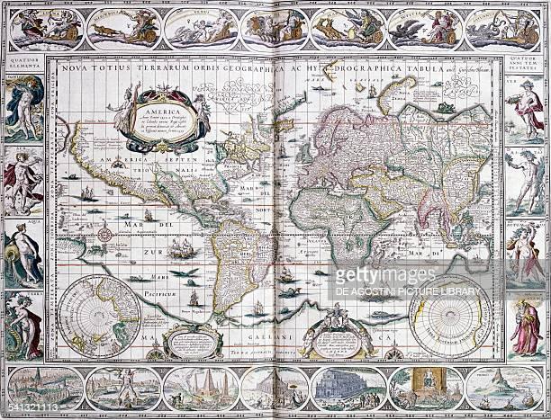 Nova totius terrarum orbis geographica ac hydrographica tabula planisphere by Willem Janszoon Blaeu Milan Biblioteca Ambrosiana