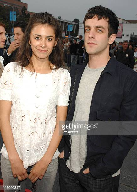 BJ Novak and guest during 'Knocked Up' Los Angeles Premiere Red Carpet at Mann's Village Theater in Westwood California United States