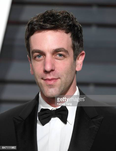 B J Novak arrives for the Vanity Fair Oscar Party hosted by Graydon Carter at the Wallis Annenberg Center for the Performing Arts on February 26 2017...