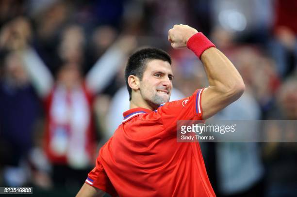 Novak Djokovic 3e simple France / Serbie Finale Coupe Davis 2010 Belgrade Serbie