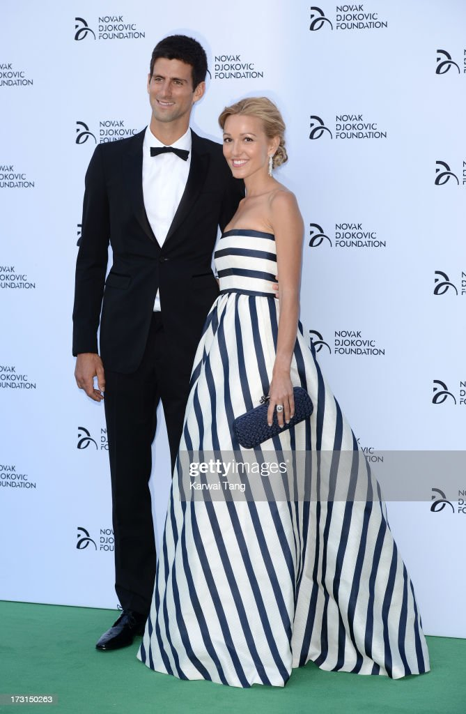 <a gi-track='captionPersonalityLinkClicked' href=/galleries/search?phrase=Novak+Djokovic&family=editorial&specificpeople=588315 ng-click='$event.stopPropagation()'>Novak Djokovic</a> and <a gi-track='captionPersonalityLinkClicked' href=/galleries/search?phrase=Jelena+Ristic&family=editorial&specificpeople=5608157 ng-click='$event.stopPropagation()'>Jelena Ristic</a> attend the <a gi-track='captionPersonalityLinkClicked' href=/galleries/search?phrase=Novak+Djokovic&family=editorial&specificpeople=588315 ng-click='$event.stopPropagation()'>Novak Djokovic</a> Foundation London gala dinner at The Roundhouse on July 8, 2013 in London, England.